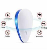 UK Plug In Electronic Ultrasonic Anti Rat Mouse Bug Mosquito Flea Pest Repeller