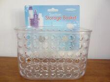 Plastic Suction Sucker Shower Bathroom Storage Caddy Organiser Basket  Brand New