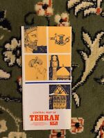 1970-1974 City Map of Tehran, Iran