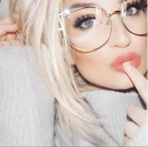 BELINDA Women Eyeglasses CAT EYE Clear Lens Shadz  Glasses Oversized GAFAS