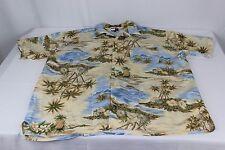 Tommy Hillfiger Hawaiian Beach Palm Tree Men's Rayon L Large Shirt