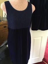Bnwt Navy Velvet & Lace Suit - Size 14 🇬🇧 - Dress & Jacket - Mode