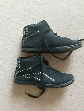 Canvas black casual boots studded 41 / 7 new without box