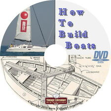 How To Build Boats { 26 Retro Style Plans and Bluprints }  on DVD