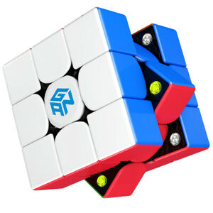 GAN 356 M, 3x3 Magnetic Speed Cube Stickerless Gans 356M Magic Cube Lightweight
