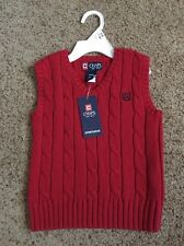 NEW Red CHAPS Boys Sweater Vest 24 Months Dress Up Stylish