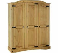 Puerto Rico 3 Door Wardrobe - Light Pine
