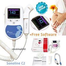 Prenatal Fetal Doppler Baby Heart Monitor Color LCD 2MHz Probe,Gel,USB+ Software