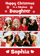 little mix A5 personalised Christmas card daughter niece granddaughter name