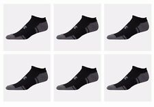 6 Pair Under Armour UA 3607 Resistor HeatGear No Show Black Men's Socks Medium M