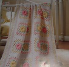 Spring Bouquet Baby Afghan Blanket ~ 4ply Crochet Pattern ~ Pretty Design