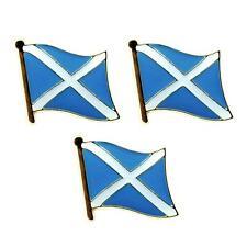 "LOT OF 3 SCOTLAND FLAG LAPEL PINS 0.5"" St Andrews Cross Saltire Badge Scottish"