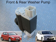 Front & Rear Windscreen Washer Pump For Hyundai i30 Hatchback 2007 to 2011