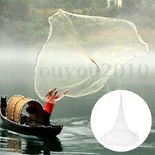 NEW Nylon Monofilament Fish Gill Net for Hand Casting Tackle Tool Kit 3.2 x 2.2m