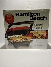 """Hamilton Beach Panini Press 10"""" x 8"""" Nonstick Grids"""