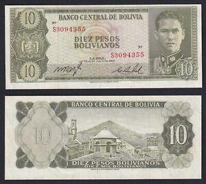 Bolivia 10 pesos bolivianos 1962 FDS-/UNC-  B-06