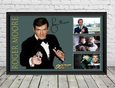 Roger Moore Signed Photo Poster James Bond 007 memorabilia