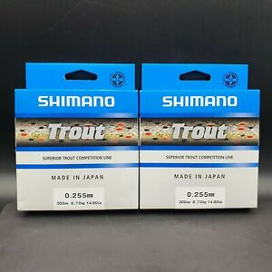 2x 300m Shimano Trout Monofile Angelschnur 0.255mm 6,7kg Top Schnur Made i Japan