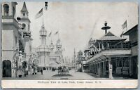 BROOKLYN NY LUNA PARK BIRD'S EYE VIEW 1907 UNDIVIDED ANTIQUE POSTCARD