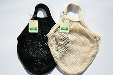 2 x stringa / Net shopping bag made from riciclato cotone grezzo, MANICI CORTI