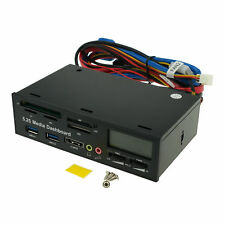 5.25'' Desktop PC Front Panel Media Dashboard Fan Control Card Reader USB 3.0