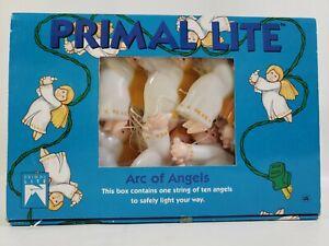 Vintage Primal Lite Christmas  Arc Of Angels String Lights 14 Ft String 10 Light