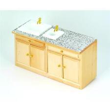 1/12th Scale Dolls House Pine Modern Sink Unit