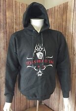 Official World Poker Tour Texas Hold 'Em Hoodie - Size Large, Gunmetal Gray