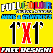 Personalised Outdoor Vinyl Banner Sign - 305 MM x 305  MM- Custom Made