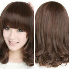 KF_Women Casual Heat Resistant Long Curly Wig Hair Party Costume Full Wigs Delux