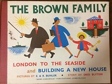 Enid Blyton. THE BROWN FAMILY.London to the Seaside and Building a New House.