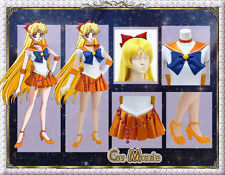 JapanAnime Sailor Moon Crystal Minako Aino Cosplay Costume Deluxe Set