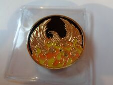 NA Black Gold Coin 10 Year Tri-Plate Narcotics Anonymous Medallion Out of Ashes