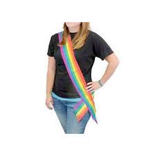 6' Foot Satin LGBT Rainbow Sash - Gay Pride Parade Lesbian Pride Party Supplies