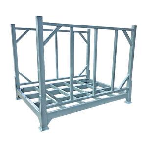 Stack Up Cage Wire Mesh Stillage Basket Heavy Duty warehouse Blue