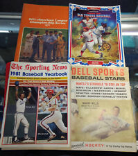 Baseball Memorabilia LOT Cracker Jack, 1981 Yearbook, 1971 AL Championship, Etc