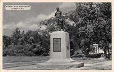 Suffolk Virginia World War Monument Antique Postcard J72122