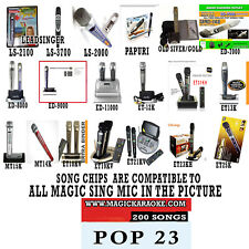 MAGIC SING MIC POP SONG CHIP POP 23 200 SONGS ALSO WORKS WITH 2019 ET23KPRO