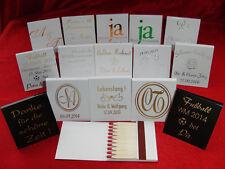 50 bedruckte Streichholzbriefchen: SILBERHOCHZEIT/GOLDHOCHZEIT, silberne/goldene