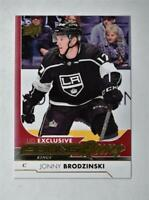 2017-18 Upper Deck UD Series 1 Exclusives Young Guns Jonny Brodzinski /100 RC