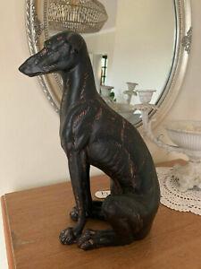 Windhund Deko Hund Hündin Figur Skulptur Home Garten H30 cm