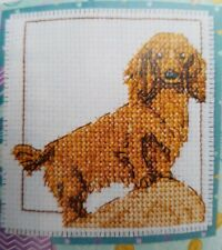 'Long-Haired Dachshund Pet O/T Month' Cross Stitch Chart By Durene Jones (A79)