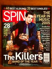 SPIN MAGAZINE JAN 2006 THE YEAR IN MUSIC 2005 THE KILLERS 40 BEST ALBUMS!