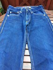 Ladies Womens Levis Real Loose Wide Fit Jeans Mid/dark blue Straight Leg SZ W32