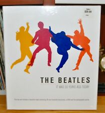 THE BEATLES IT WAS 50 YEARS AGO TODAY BOX SET CD,  BOOK & 30 PIECE MEMORABILIA