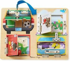 Melissa & Doug LOCK & LATCH BOARD Wooden Fine Motor Developmental Toy BN