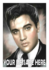 ELVIS PRESLEY NO 2   BIRTHDAY PERSONALISED CAKE TOPPER A4  EDIBLE ICED/ ICING