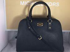 NWT Authentic Michael Kors Black Saffiano Leather Large Satchel Bag Purse Tote