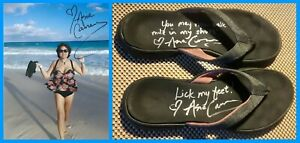 Asia Carrera Sexy: Dual Signed Shoes W/Autographed Photo