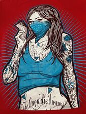 The Good Die Young Hot Tattooed Woman Bandit Lady Luck Gambler T Shirt Red Large